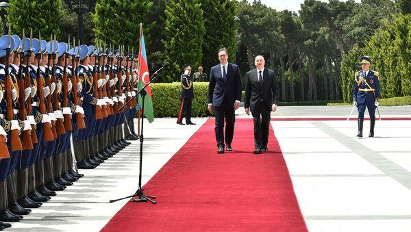 Церемония официальной встречи Президента Сербии Александра Вучича - Sputnik Азербайджан