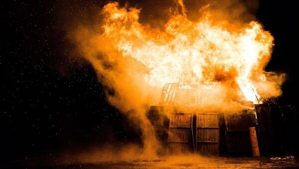 Пожар, фото из архива - Sputnik Азербайджан