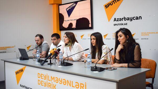 Пресс-конференция организаторов Beauty Fashion Show Семь красавиц - Sputnik Азербайджан
