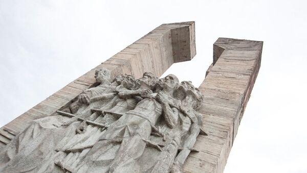 Мемориала жертвам немецко-фашистского концлагеря Дулаг-100 - Sputnik Азербайджан