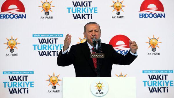 Президент Турции Реджеп Тайип Эрдоган - Sputnik Azərbaycan