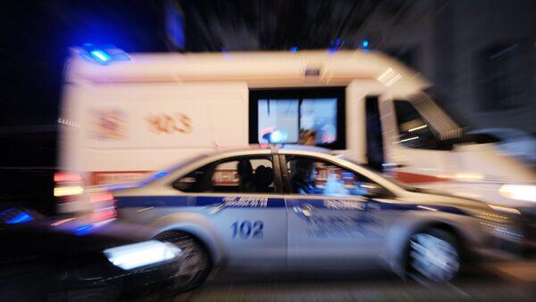 Автомобили полиции и скорой медицинской помощи в России, архивное фото - Sputnik Азербайджан