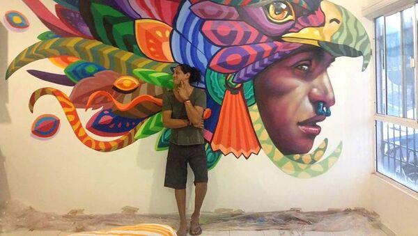 Мексиканский мастер настенной живописи Фарид Руэда - Sputnik Азербайджан