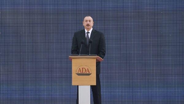Prezident İlham Əliyev ADA Universitetində keçirilən məzun günündə iştirak edib - Sputnik Azərbaycan