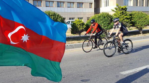 Велопробег под девизом Мы — преемники АДР, посвященный 100-летию АДР - Sputnik Азербайджан