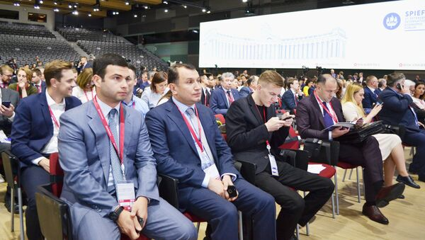 Sankt-Peterburqda Beynəlxalq İqtisadi Forumu keçirilib - Sputnik Azərbaycan