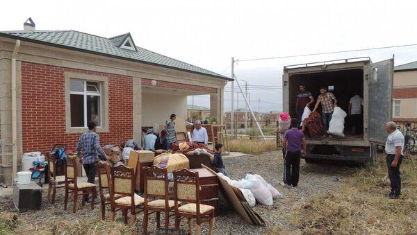 Жители села Джоджуг Мерджанлы Джебраильского района переселяются в новый дом - Sputnik Азербайджан