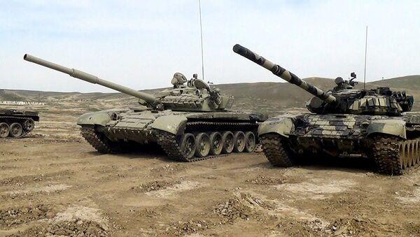 Соревнование на звание Командир лучшей танковой роты - Sputnik Азербайджан