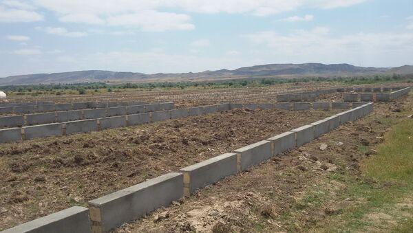 Строительство теплицы в селе Джоджуг Марджанлы Джабраильского района - Sputnik Азербайджан
