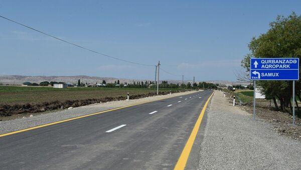 Автомобильная дорога Делимеммедли-Гушчулар-Фахралы-Гурбанзаде-Алпоут в Геранбое - Sputnik Азербайджан