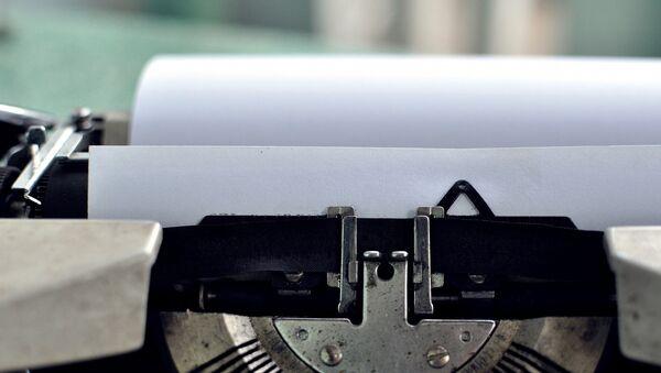 Пишущая машинка, фото из архива - Sputnik Азербайджан