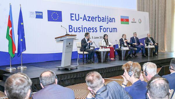 Бизнес-форум ЕС-Азербайджан - Sputnik Азербайджан