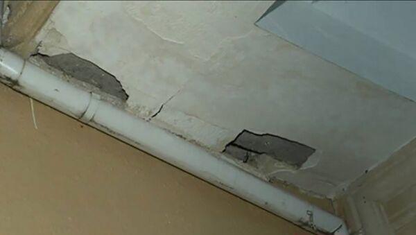 В результате землетрясения в Загатале в ряде домов образовались трещины - Sputnik Азербайджан