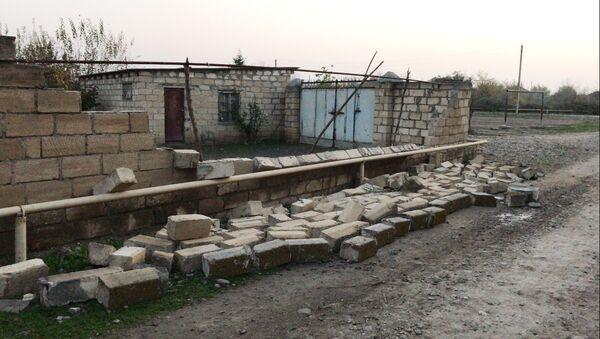 Последствия землетрясения в одном из районов Азербайджана, фото из архива - Sputnik Азербайджан