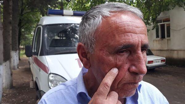 Hadisə nəticəsində xəsarət almış həkim Eldar Abdıyev - Sputnik Azərbaycan