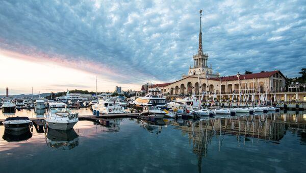 Морской вокзал в Сочи, фото из архива - Sputnik Азербайджан