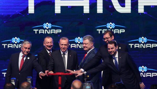 Церемония открытия газопровода TANAP - Sputnik Азербайджан