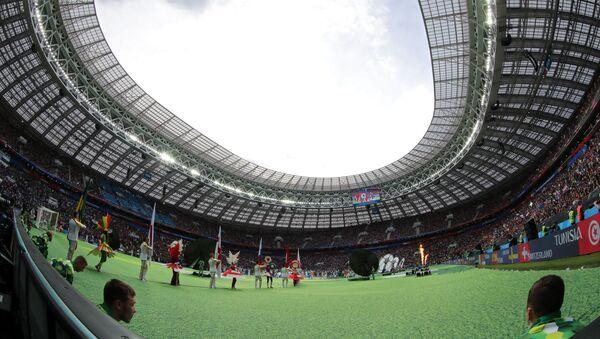 Церемония открытия чемпионата мира по футболу 2018 на стадионе Лужники - Sputnik Азербайджан