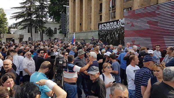 Акция протеста в Тбилиси - Sputnik Азербайджан