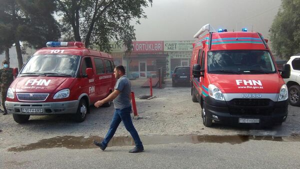 Пожар в Баку, фото из архива - Sputnik Азербайджан