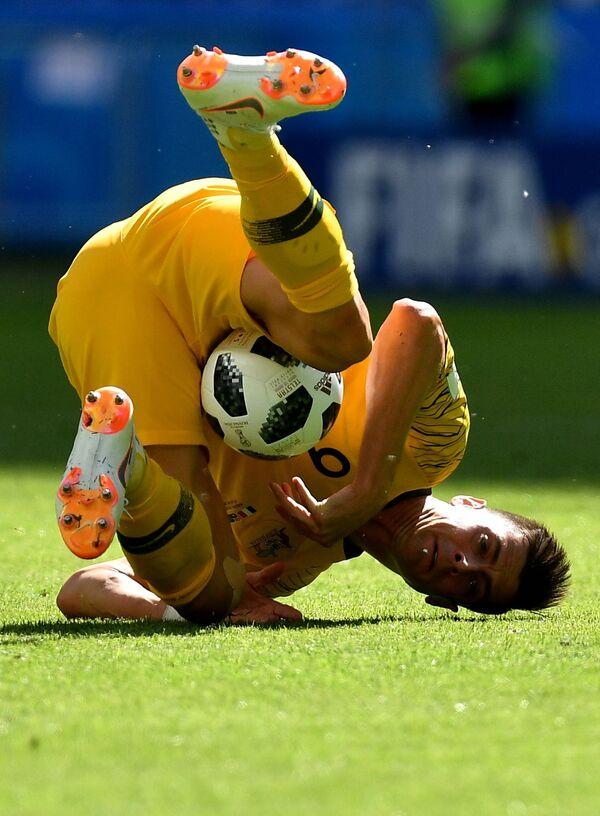 Томи Юрич в матче группового этапа чемпионата мира по футболу между сборными Франции и Австралии - Sputnik Азербайджан