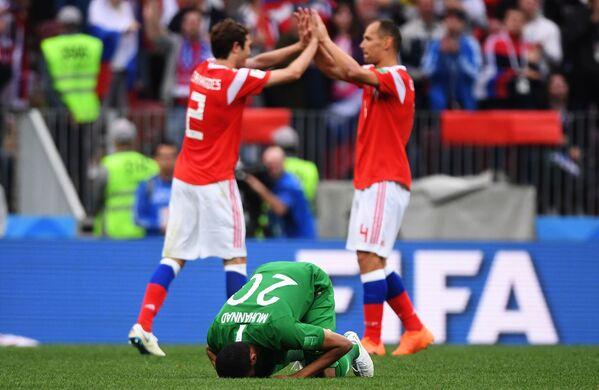 Матч группового этапа чемпионата мира по футболу между сборными России и Саудовской Аравии - Sputnik Азербайджан