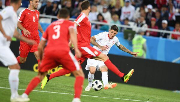 DÇ-2018, Serbiya-İsveçrə oyunundan bir fraqment - Sputnik Azərbaycan