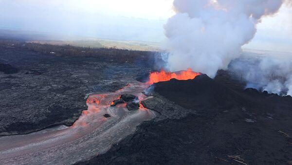 Havayda Kilauea vulkanının püskürməsi - Sputnik Azərbaycan