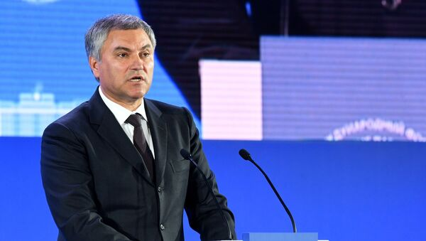 Председатель Государственной Думы РФ Вячеслав Володин - Sputnik Азербайджан