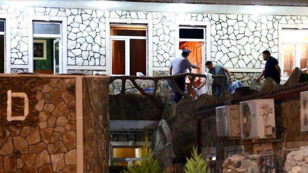 Убийство в отеле Гранд, расположенном в Бинагадинском районе Баку - Sputnik Азербайджан