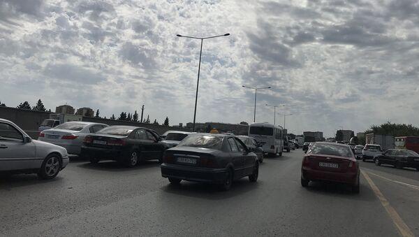 Sumqayıt-Bakı yolunda tıxac - Sputnik Azərbaycan