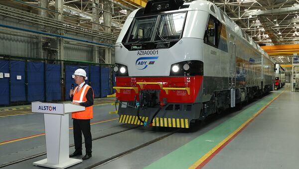 Презентация локомотива, изготовленного по заказу Азербайджанских железных дорог - Sputnik Азербайджан