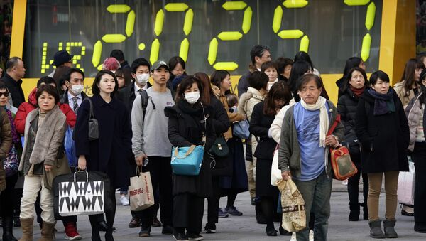 Жители Токио, фото из архива - Sputnik Азербайджан