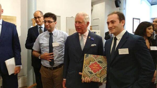Делегация из Азербайджана на встрече с принцем Уэльским - Sputnik Азербайджан