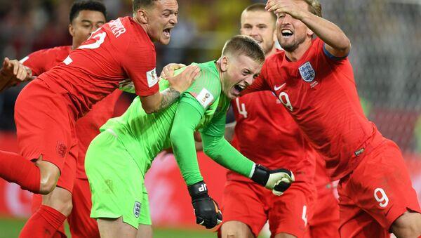 Матч ЧМ-2018 Англия-Колумбия, 1/8 финала - Sputnik Азербайджан