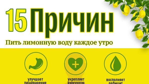 15 причин пить лимонную воду каждое утро - Sputnik Азербайджан