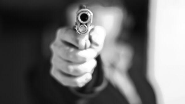 Пистолет в руке, фото из архива - Sputnik Азербайджан