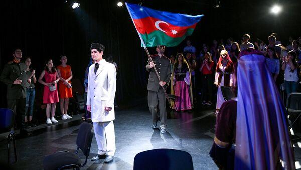 Премьера пьесы Наследие азербайджанского писателя Натига Мамедли - Sputnik Азербайджан