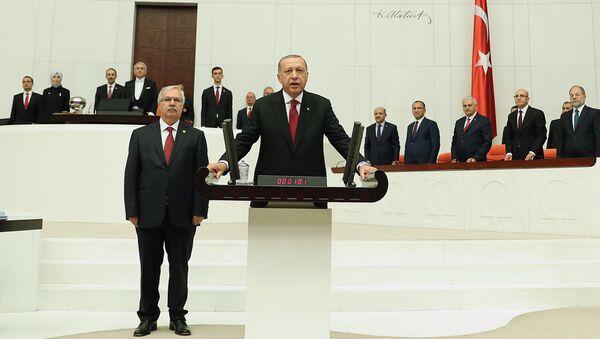 Церемония инаугурации президента Турции Реджепа Тайипа Эрдогана, 9 июля 2018 года - Sputnik Азербайджан
