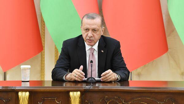 Выступление президента Турции Реджепа Тайипа Эрдогана - Sputnik Азербайджан