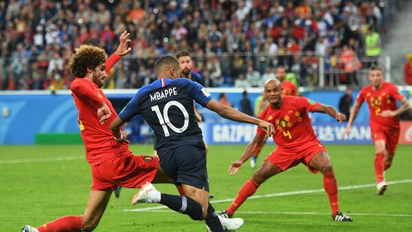 Футбол. ЧМ-2018. Матч Франция - Бельгия - Sputnik Азербайджан