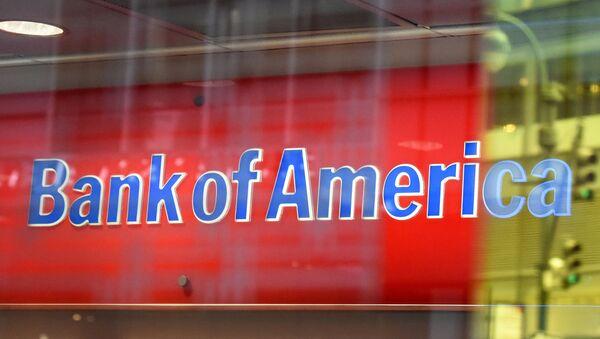 Логотип Bank of America в Нью-Йорке - Sputnik Азербайджан