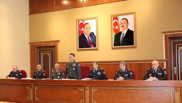 В Министерстве Внутренних Дел Азербайджана прошла коллегия, посвященная итогам первого полугодия 2018 года - Sputnik Азербайджан