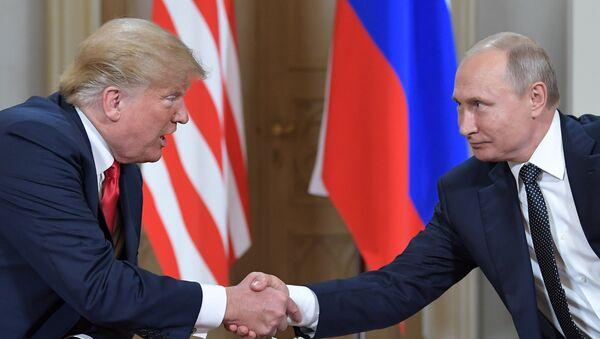 Putin və Trampın görüşü - Sputnik Azərbaycan