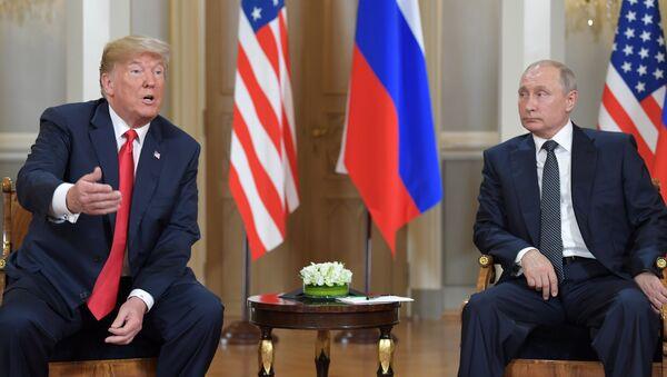 Helsinkidə Putinlə Trampın görüşü, 16 iyul 2018-ci il - Sputnik Azərbaycan