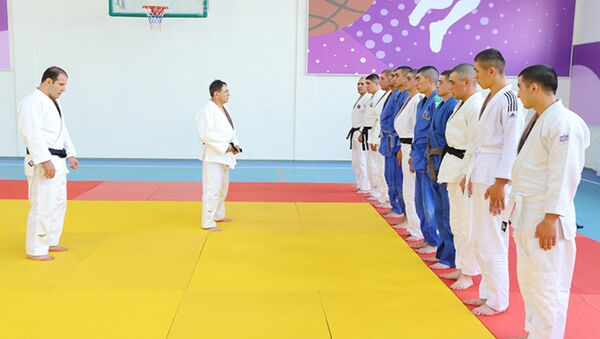 DTX-nin hərbi hissəsində cüdo idman növü üzrə master-klass - Sputnik Azərbaycan