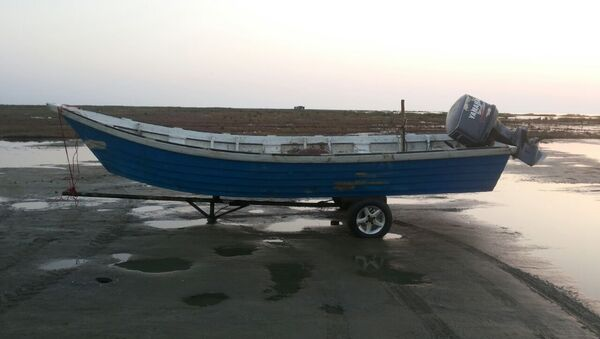 Моторная лодка Лайнер, оснащенная мотором Yamaha-200 - Sputnik Азербайджан