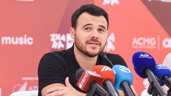Эмин Агаларов на пресс-конференции участников фестиваля Жара-2018 - Sputnik Азербайджан