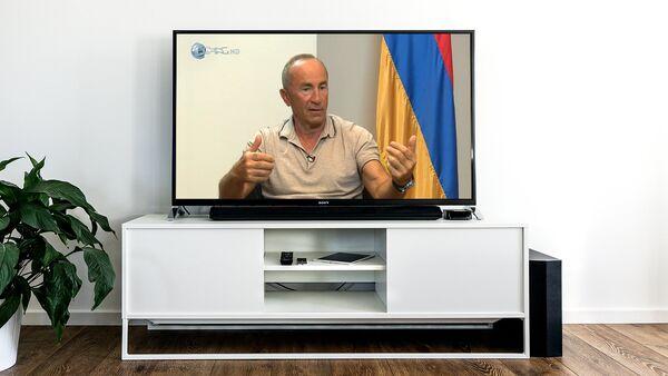 Интервью второго Президента Армении Роберта Кочаряна телеканалу Еркир Медия - Sputnik Azərbaycan