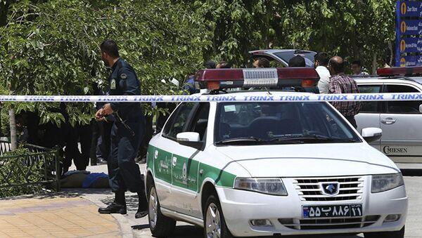 Иранский полицейский, фото из архива - Sputnik Азербайджан